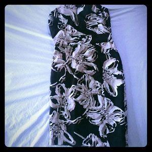 NWT) Banana Republic strapless dress petite 0 P0